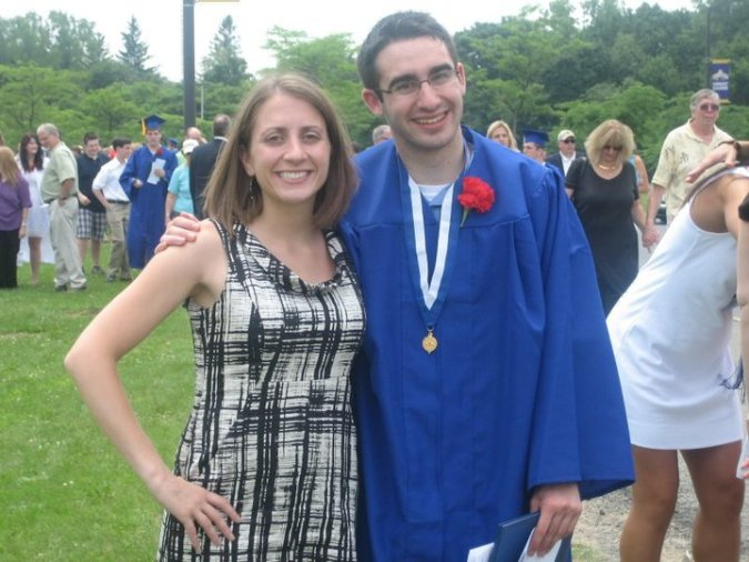 Greg and me at his high school graduation