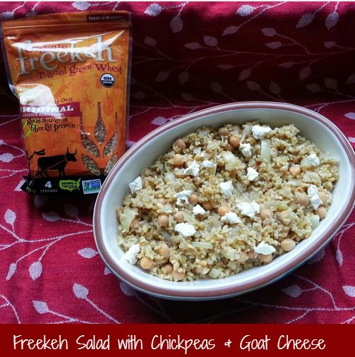 Freekeh Salad with Chickpeas and Goat Cheese