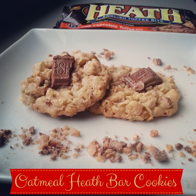 Oatmeal Heath Bar toffee Cookies - i crashed the web