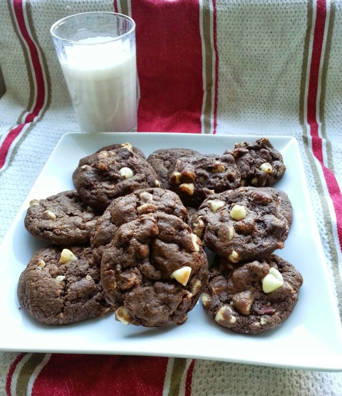 Chocolate Heath Bar Pecan Cookies