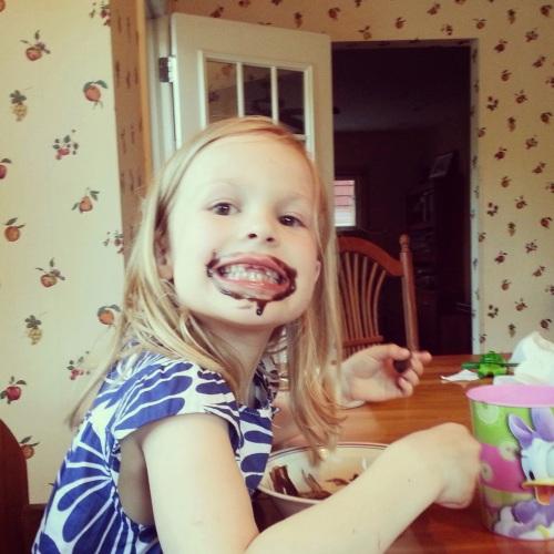 So much chocolate ice cream!