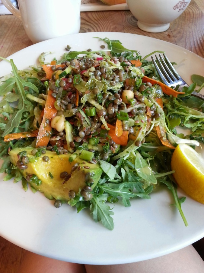 great lunch at Le Pain Quotidien