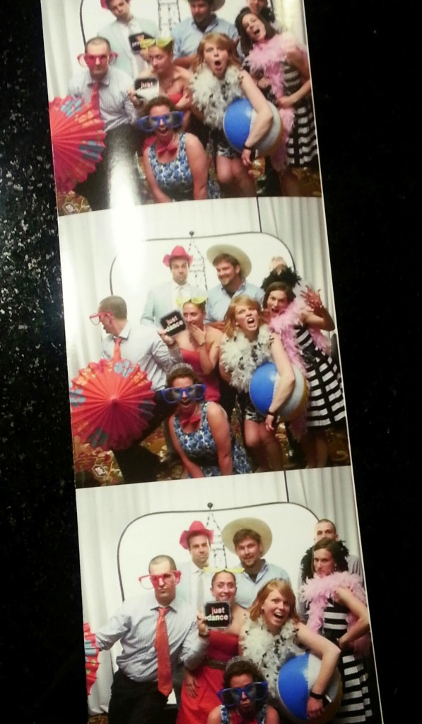 photobooth fun with the group of cousins