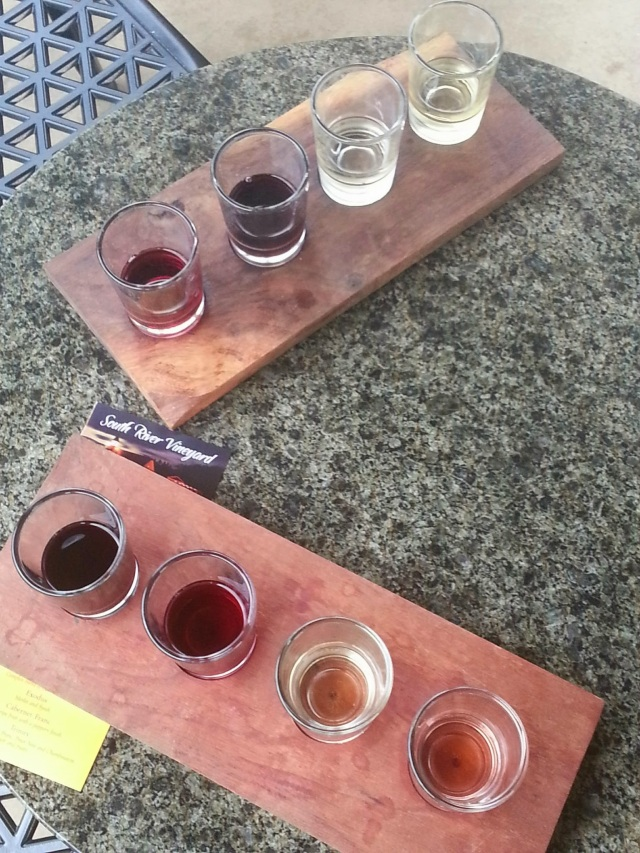 Wine flight @ South River