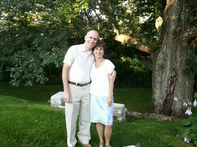 Beautiful parents before dinner
