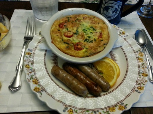 Another Inn breakfast. We all had our own minim omelets!