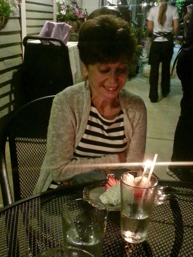 Surprise! Birthday candle @ the Thai restaurant
