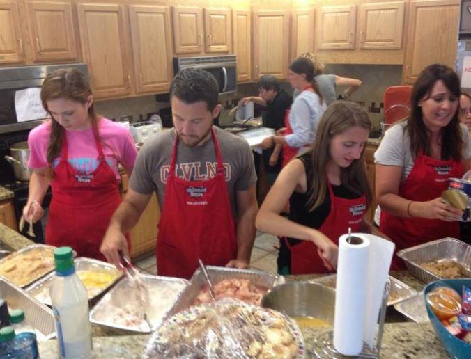 I also helped prepare the chicken