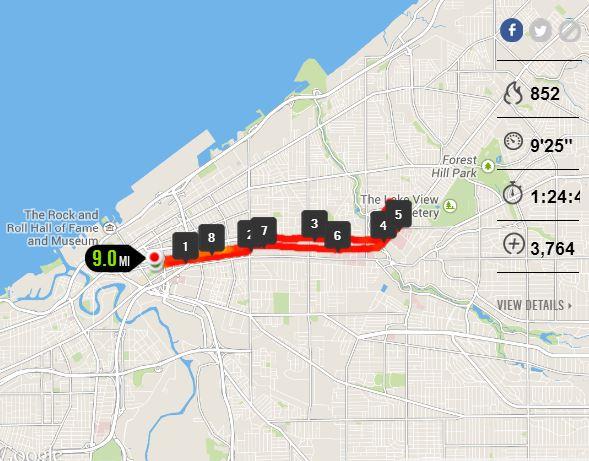 9 miles
