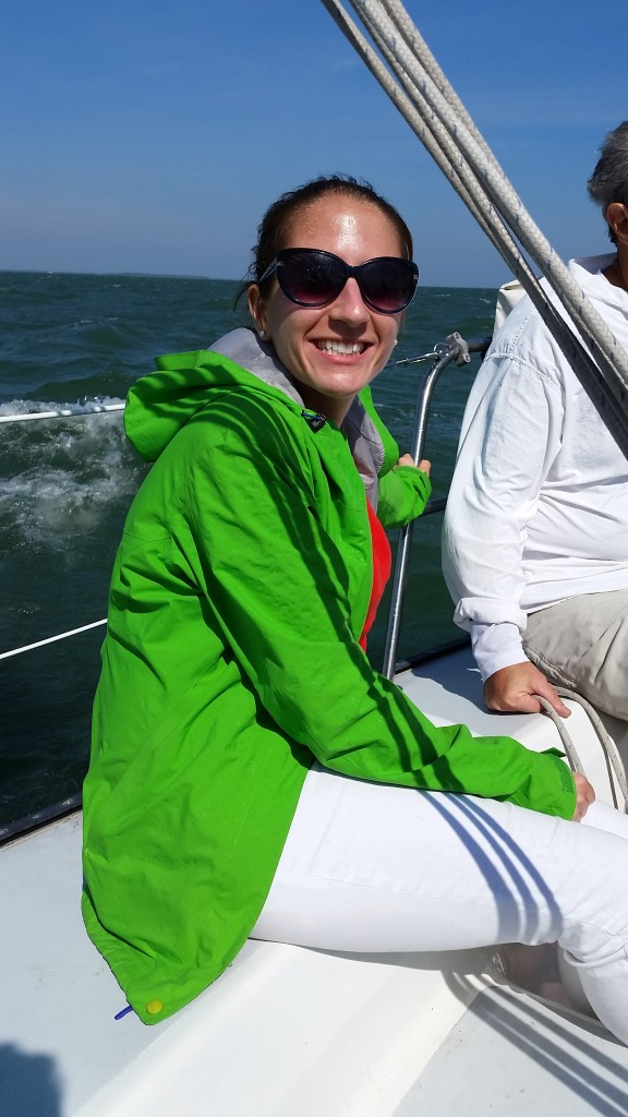 Smiling while sailing