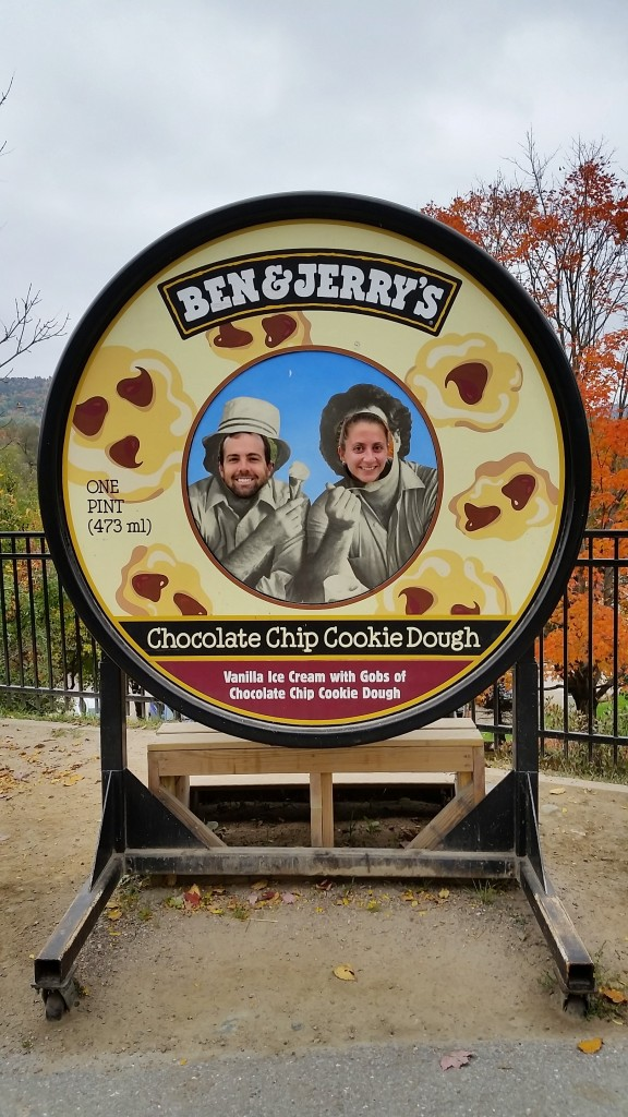 Being goofy at Ben & Jerry's