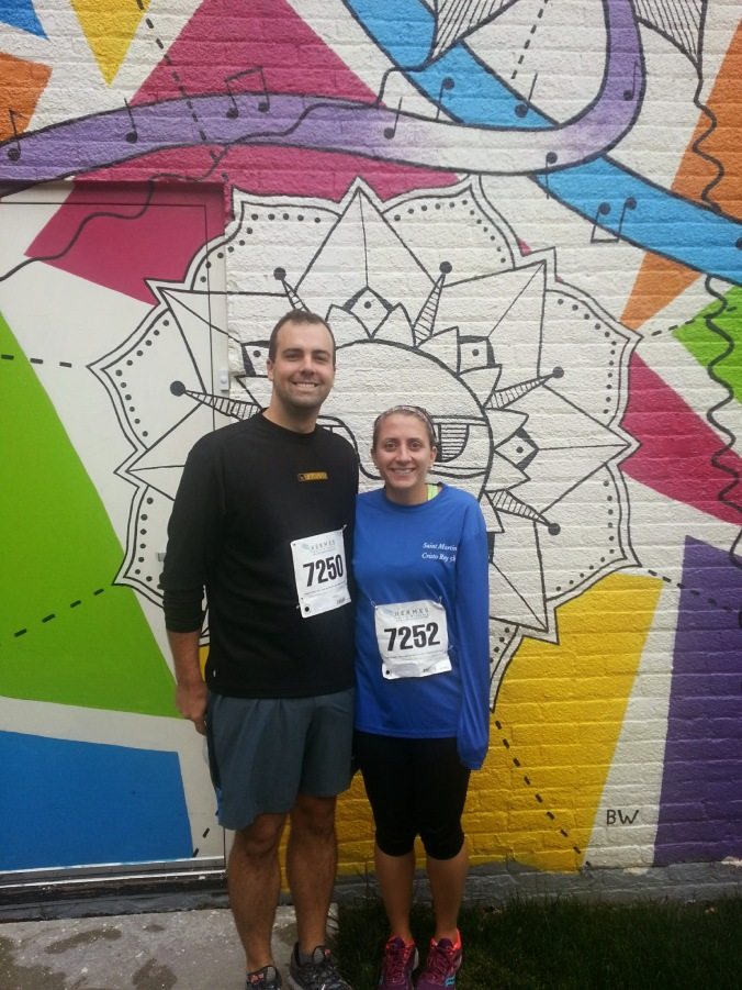 Post-race photo opp! So cold.