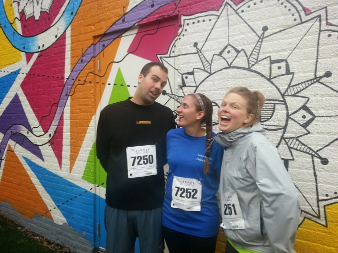 Being silly with B an Mary after our run.