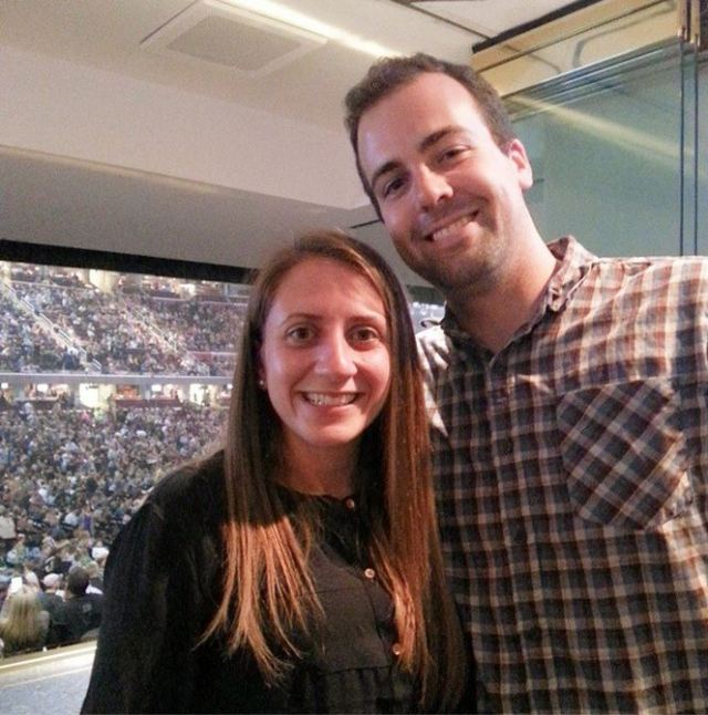 Hanging out in the suite before Eric Church came on