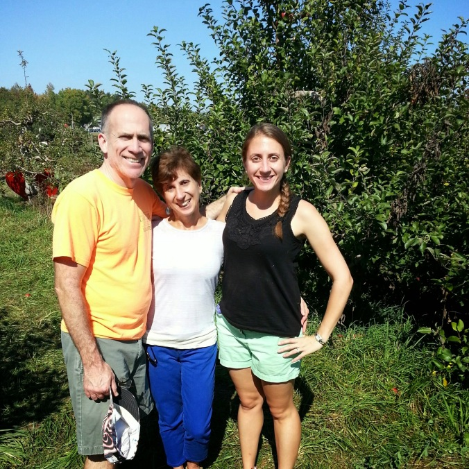 apple picking at indian ladder