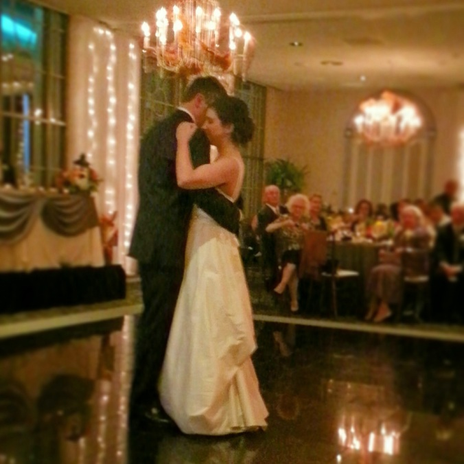 Beautiful bride at her first dance