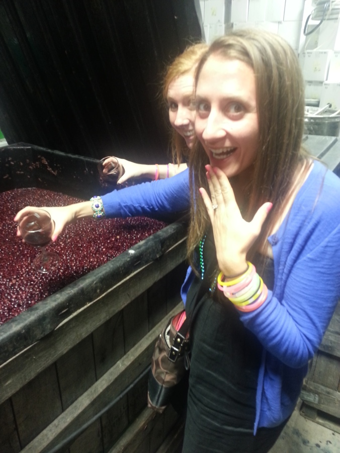 We got to see how the wine was made!