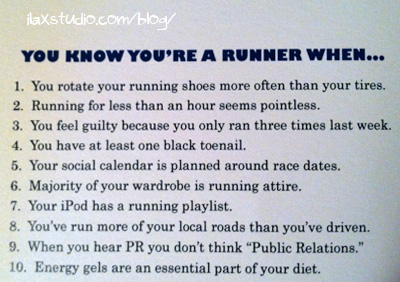 you know you're a runner