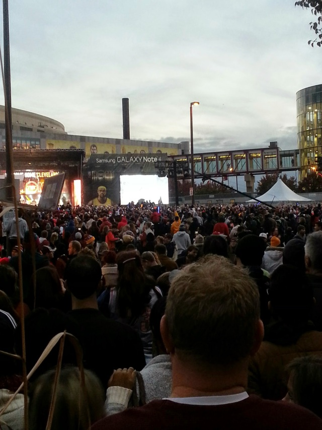 OK so this is from Thursday. The scene outside the Q before the home opener.