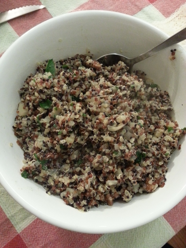 Quinoa with Apples and Pecans - i crashed the web