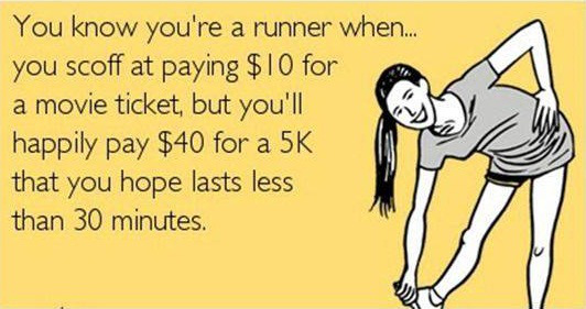 you know you're a runner if