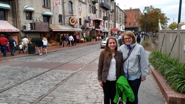 Downtown Savannah with Mary
