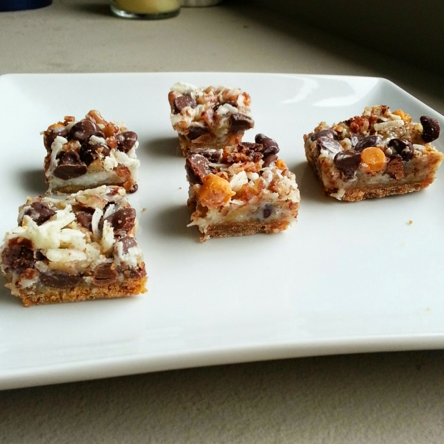 first baking of the weekend - magic bars!