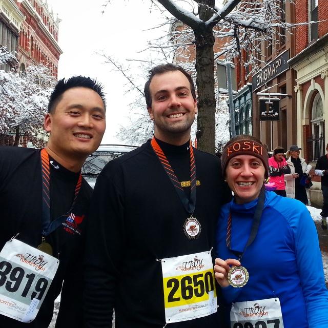 Melgar's husband, B and me post-run