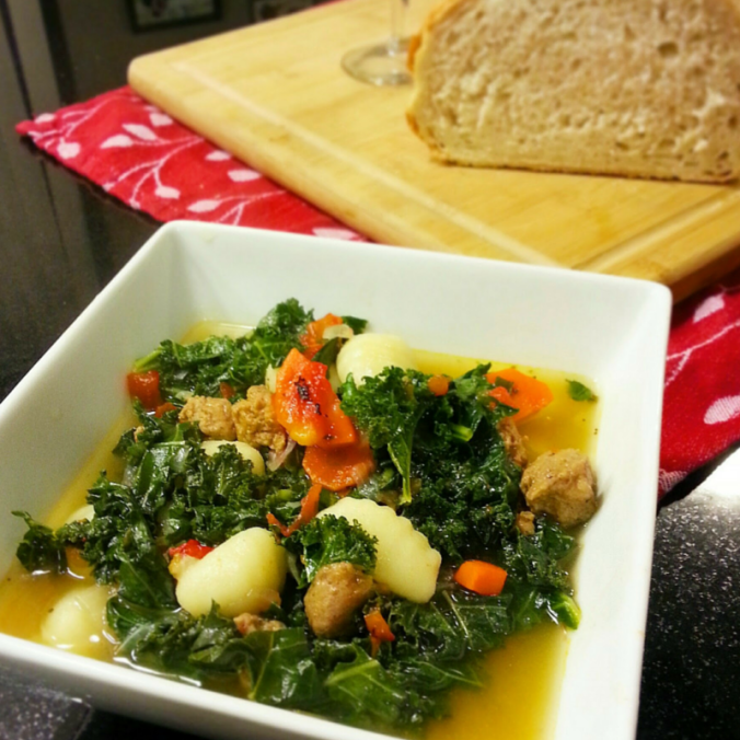 Tuscan Gnocchi, Kale and Spicy Sausage Soup - i crashed the web