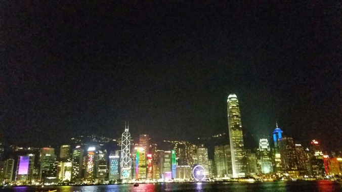 View from Kowloon - all the buildings lit up
