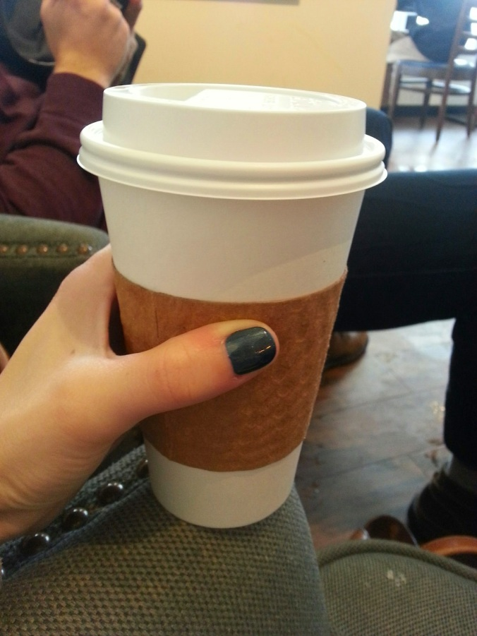 freshly done nails and tea!