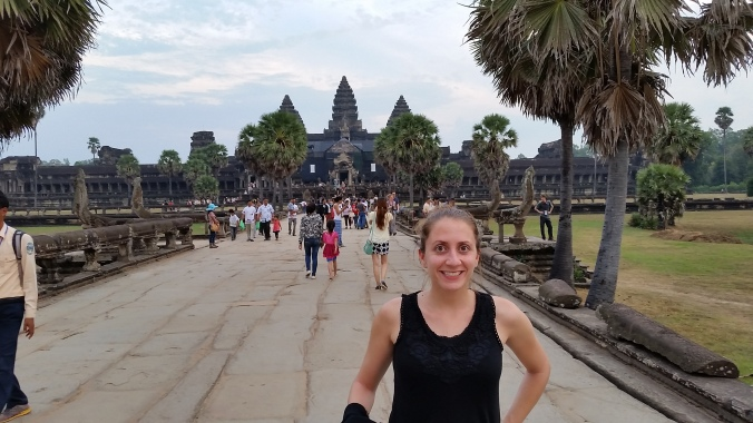 The famous Angkor Wat