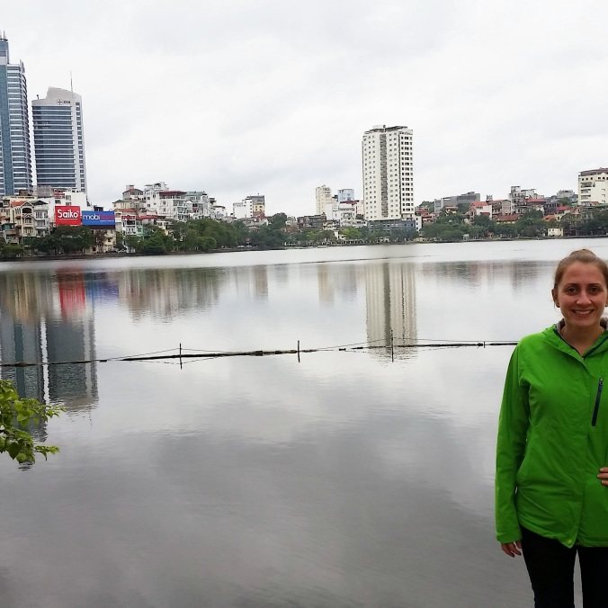 one of the many lakes in Hanoi