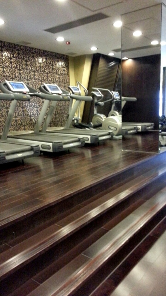 This was the bank of treadmills at our hotel in Macau! No gyms in Cambodia or Vietnam :(