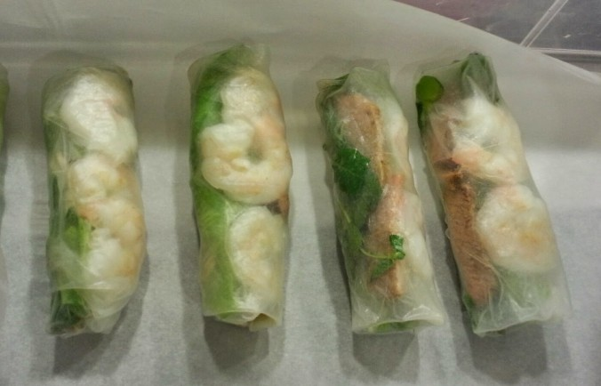 spring roll time! (totally normal super bowl appetizer right?)