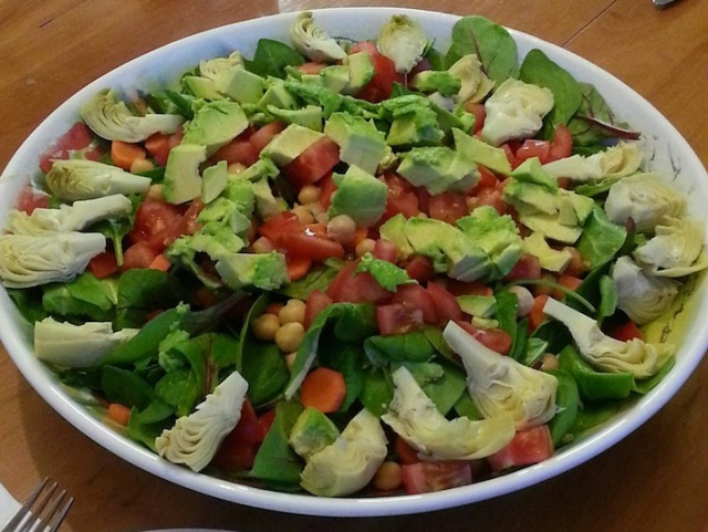 my contribution to the dinner - salad!