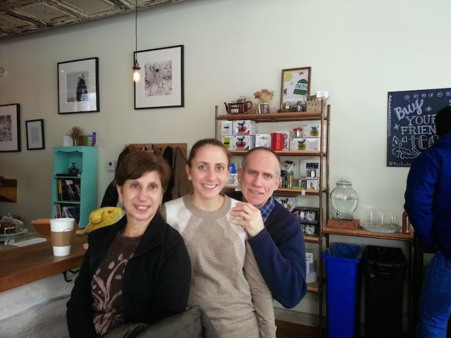 Family at the tea shop