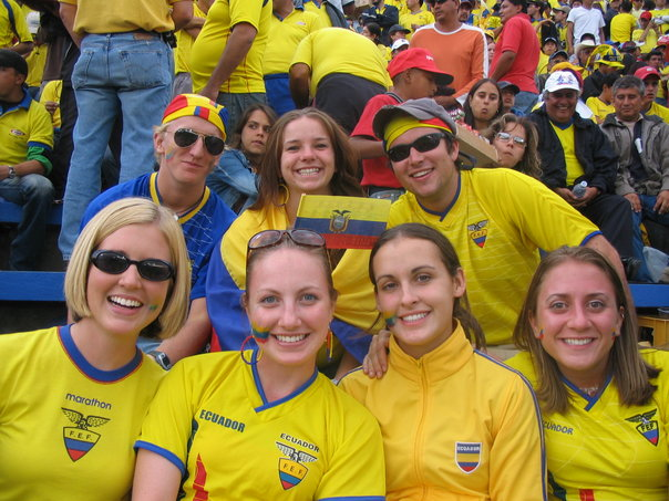 A throwback to my days in Ecuador - at a futbol game!