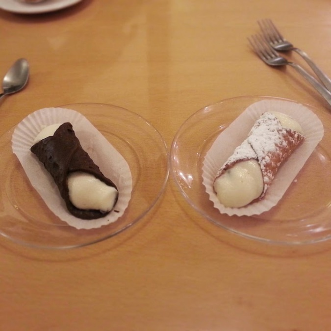 Cannoli=happiness. I ate the one on the right - every single bite.