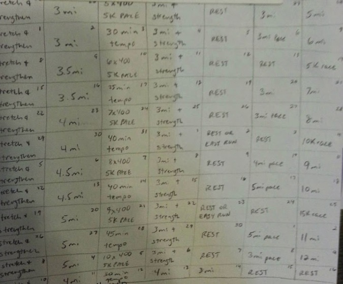 B made me a schedule :)