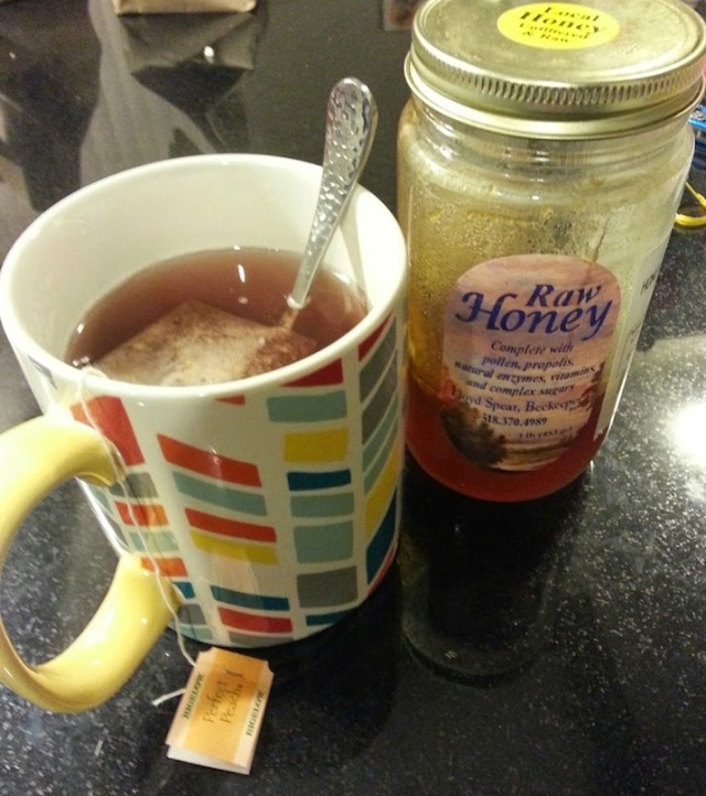 tea and honey after dinner!