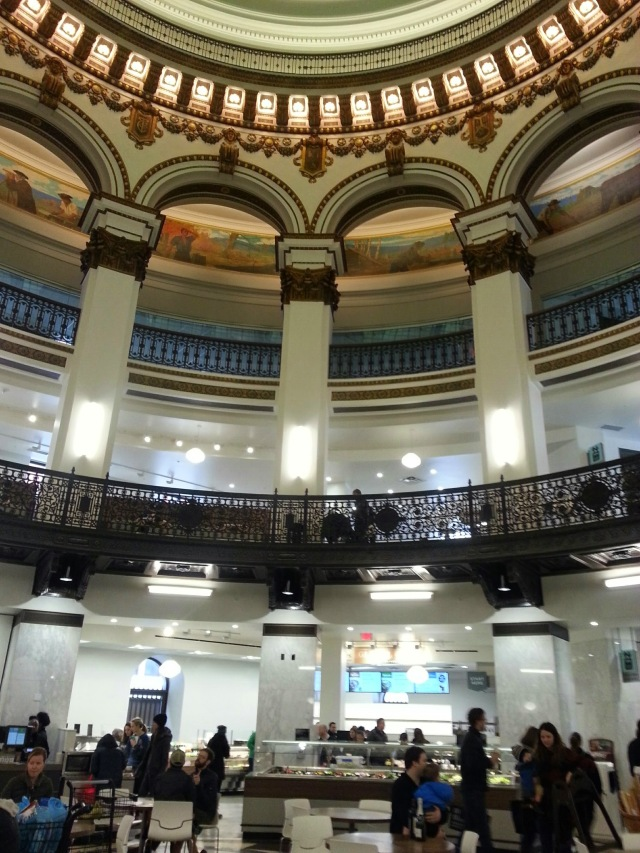 Last stop on our walk? The new Heinen's grocery store downtown to pick up some food for the week. Yup, I took a picture of the grocery store and I wasn't the only one - isn't it beautiful?