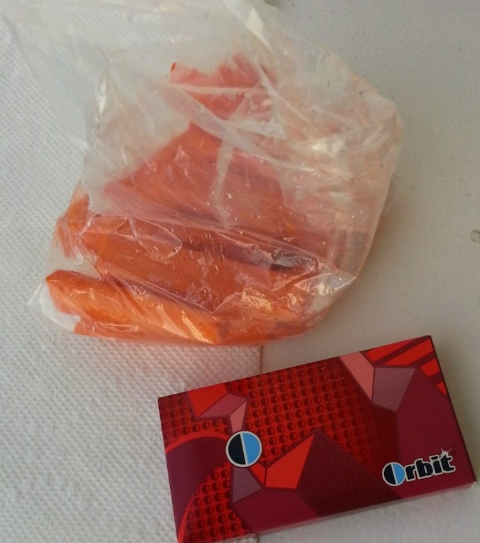 carrots and gum.