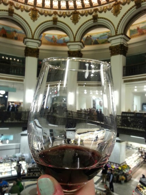 Glass of wine while shopping!