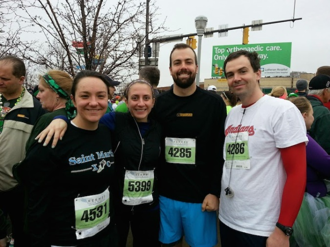 Some BC Alumni before the 5 miler