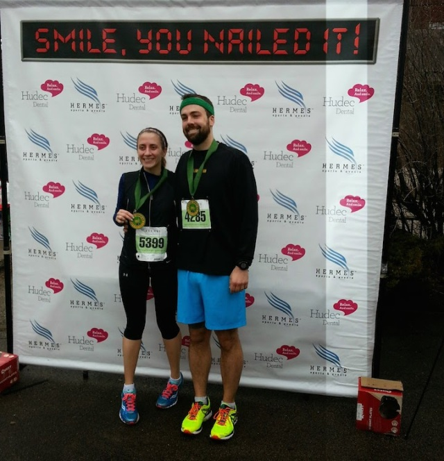 Post-race with B and our medals!