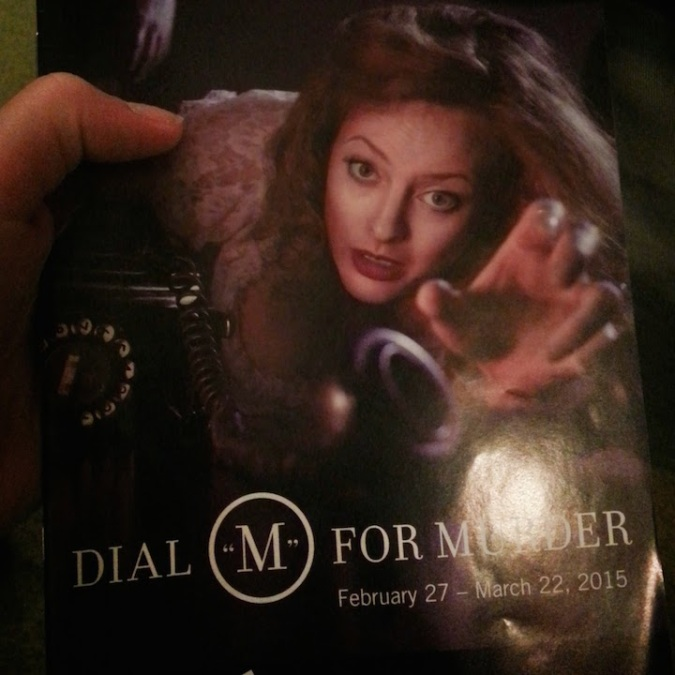 The show playbill - Dial M for Murder!