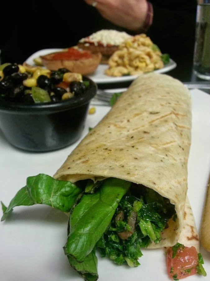 My go-to - half kalebouli wrap and bean/corn salad