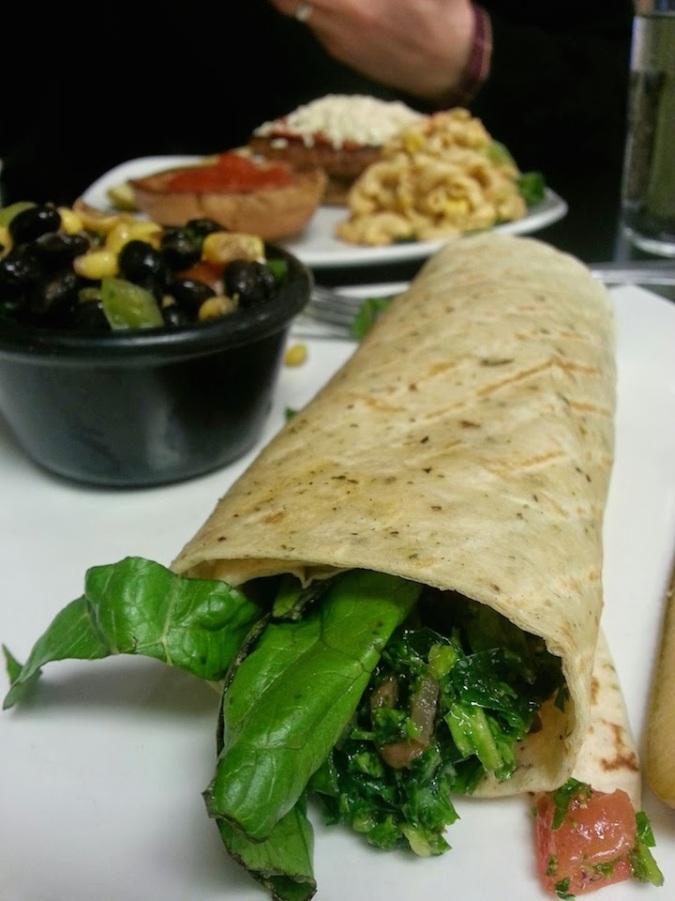 My go-to - half kalebouli wrap and bean/corn salad