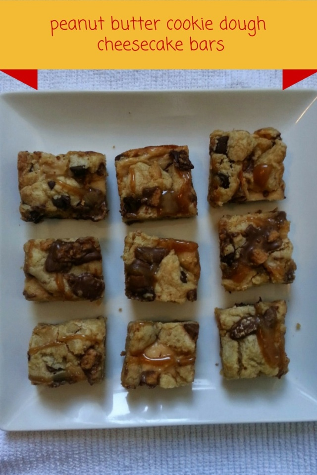 peanut butter cookie dough  cheesecake bars